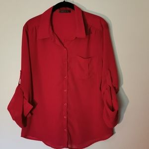 🔥 2 for $22 - Suzy Shier size L blouse, Pink